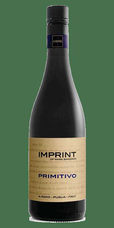 A Mano Imprint 2016 rødvin produceret af A Mano fra Apulien i Italien