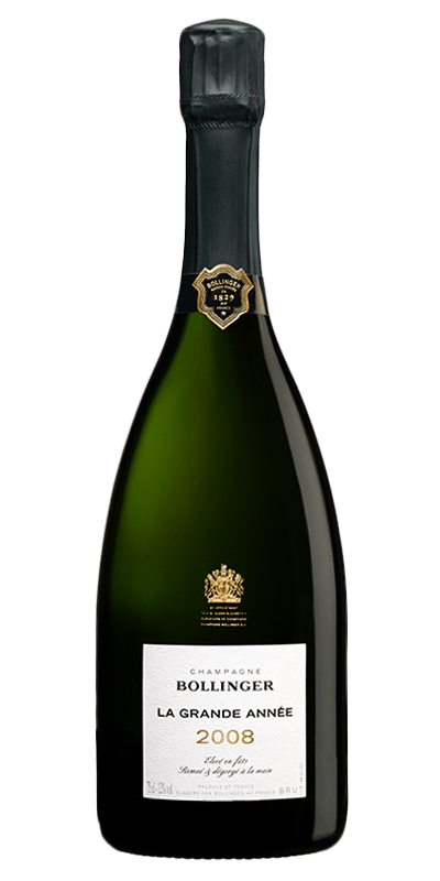 Bollinger Grand Annee 2008 er produceret af Delamotte fra Champagne i Frankrig