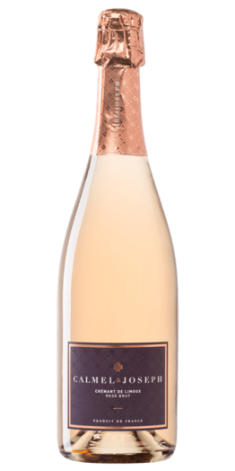 Crémant de Limoux Rosé produceret af Calmel&Joseph fra Languedoc-Roussillon i Frankrig