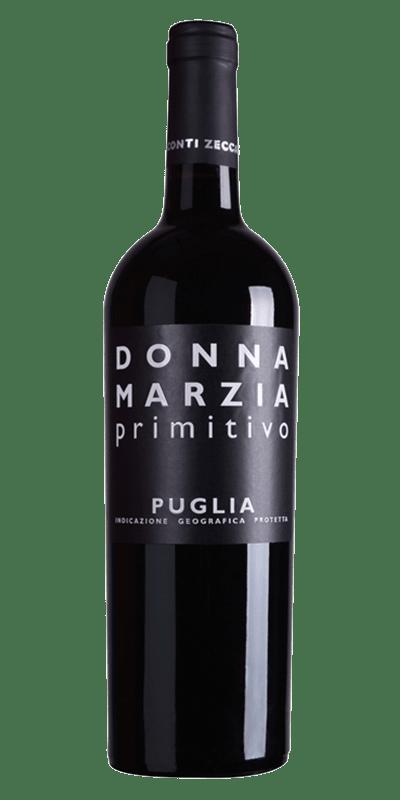 Donna Marzia Primitivo produceret af Conti Zecca fra Apulien i Italien