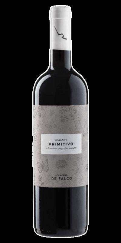 Falco Primitivo Salento rødvin produceret af Cantine de Falco fra Apulien I italien