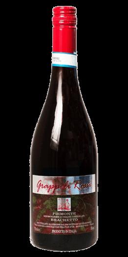 Grappoli Rossi Brachetto mousserende vin produceret af Cascina Pian d'Or fra Piemonte i Italien