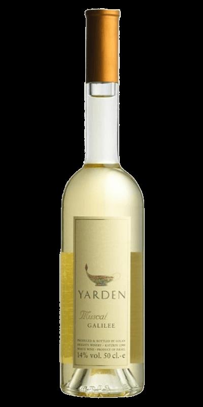 Yarden Muscat produceret af Golan Heights Winery fra Galilæa i Israel