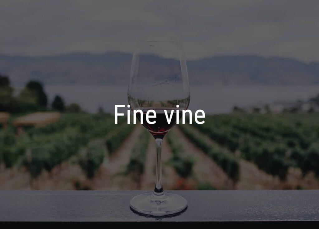 Et glas med vin fra Winedrop