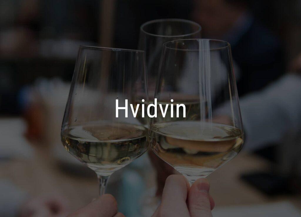 Tre glas med hvidvin fra Winedrop