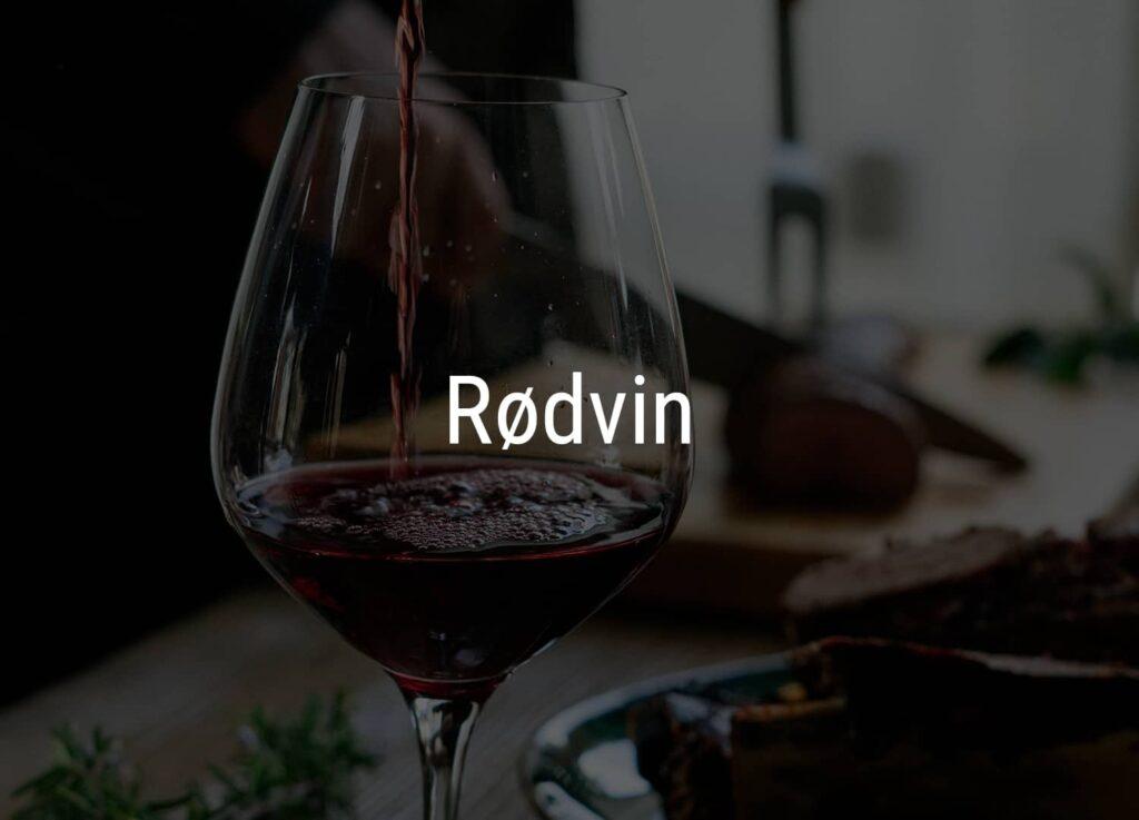 Et glas med rødvin fra Winedrop