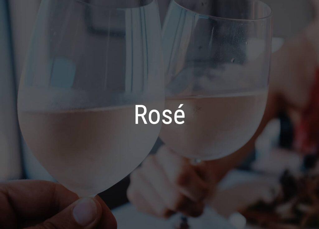 2 glas med rosévin fra Winedrop